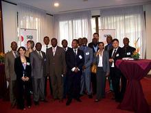 Photo de famille des consultants Sage à Kinshasa